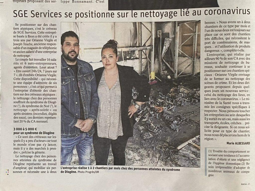 Desinfection Coronavirus Entreprise Nettoyage Lyon
